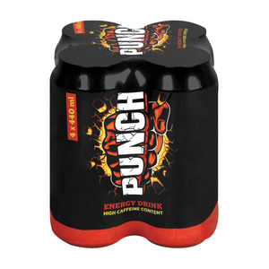 Punch Energy Drink 440ml x 4