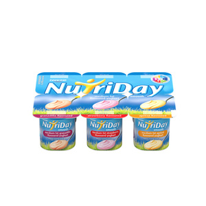 Danone Nutriday Strawberry Granadilla A Pricot Yoghurt 6ea
