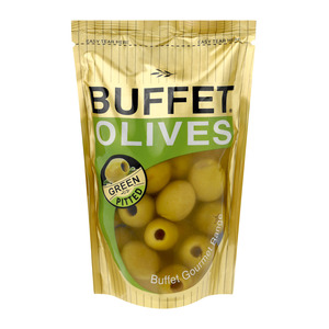 Buffet Green Pitted Olives 200g