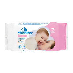 Cherubs Sensitive Baby Wipes 72s