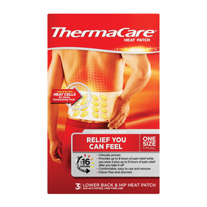 Thermacare Heat Patch Lower Back&hip 3ea