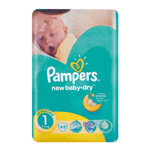 Pampers New Born Value Pack 43ea