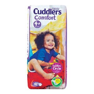 Cuddlers Comfort Baby Diapers Size4 48ea