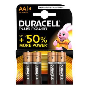 Duracell Alkaline Batteries Plus Power AA 4s
