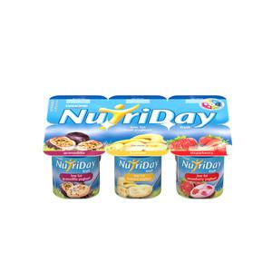 Danone Nutriday Strawberry Banana & Granadilla Fruit Yoghurt 6s