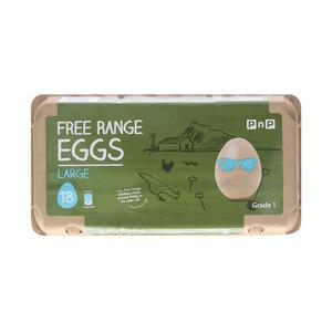 Pnp Large Free Range Eggs 18ea