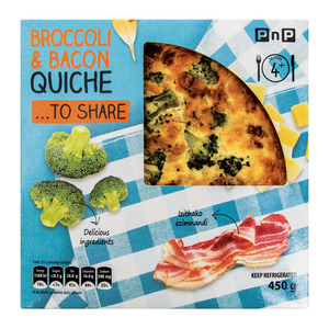 PNP BROCCOLI BACON&W/CHED QUICHE 450GR