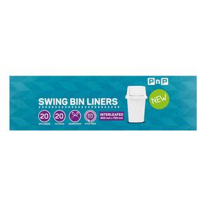 PnP Swingbin Liner White 20ea x 25