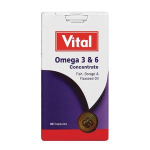 Vital Omega 3 & 6 Concentration Tablets 30s