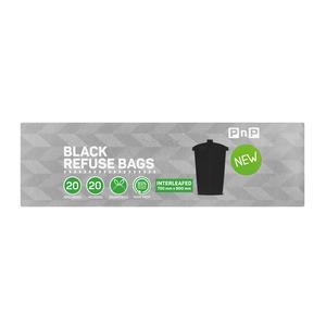PnP Black Refuse Bag Interleafed 20s