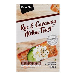 PnP Rye & Caraway Seed Melba Toast 160g