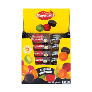 Maynards Wine Gums Roll 39g x 36