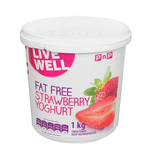 PnP Live Well Fat Free Strawberry Yoghurt 1kg