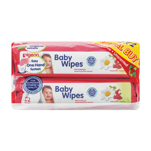 Pigeon Baby Wipes Banded Pack 164s