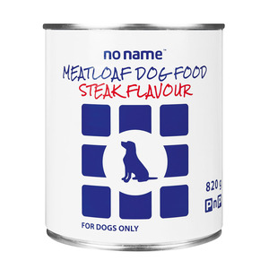 No Name Meatloaf Steak Dog Food 820g