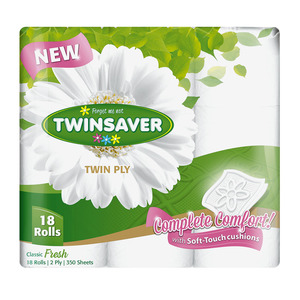 Twinsaver Luxury 2 Ply Toilet Paper 18s