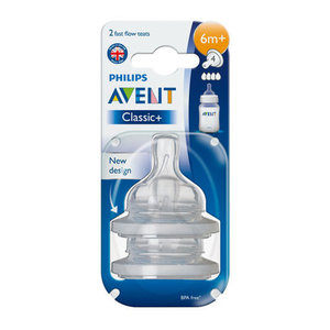 Avent Teat Fast 6 Month +
