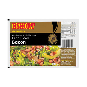 Eskort Lean Diced Bacon 200g