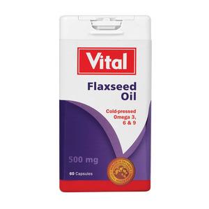Vital Flaxseed Oil Capsules 60ea