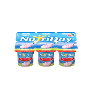 Danone Nutriday Nutriday Smo Oth Strawberry Yoghurt 6ea