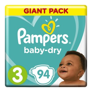 Pampers Active Baby Nappies Midi Giant Pack 94s