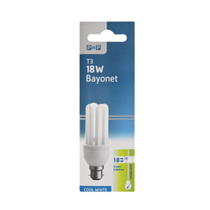 PnP Energy Save 18w Cool White Clip In