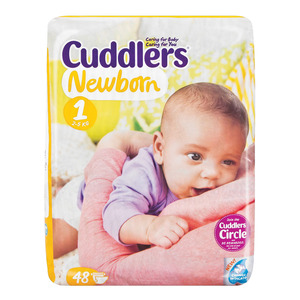 Cuddlers Newborn 2-5kg 48ea