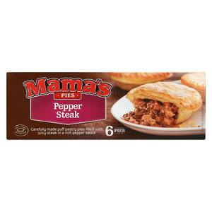 Mama's Frozen Pepper Steak Pies 6s