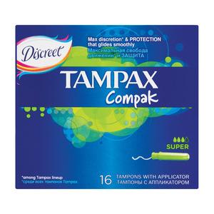 Tampax Compak Tampons Super 16ea