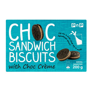 PnP Sandwich Biscuit With Chocolate Cream 200g
