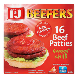 Beefers Beef Burger Swee t Chilli 800 GR