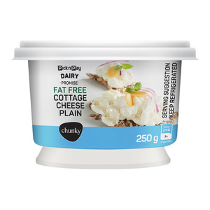 PnP Live Well Smooth Plain Fat Free Chunky Cottage Cheese 250g