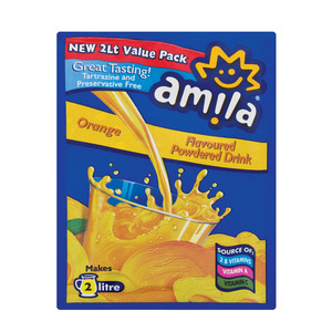 Amila Orange Flavoured 60g x 12