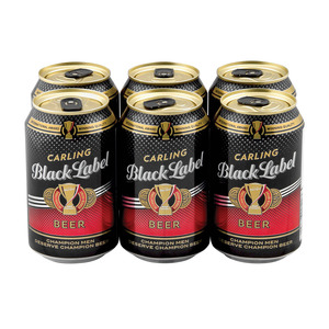 Black Label Beer Can 330 ml x 6