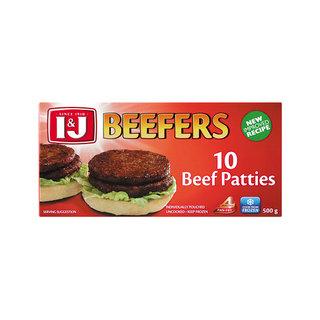 I&j Beefers Steakburgers 500 GR x 12