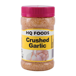 Hq Foods Pure Crushed Garlic 375 ML