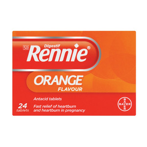 Rennie Antacid Tablets Orange 24s