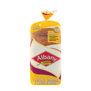Albany Superior Low Gi Slice d Brown Seed Bread 700g