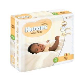 Huggies New Baby Size 2 From 3-6kg Jumbo Pack 88ea