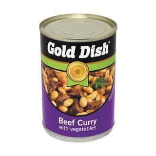 Gold Dish Beef Curry & Veg 400g