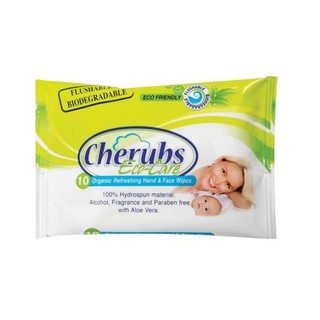 Cherubs Hand & Face Wipes Care 10ea