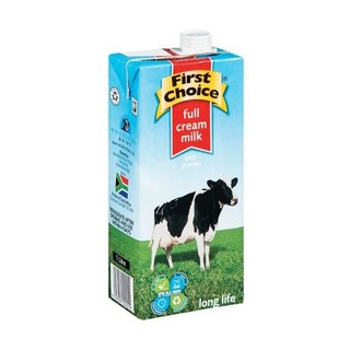 First Choice Long Life Full Cream Milk  1l