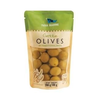 Tuna Marine Green Olives Doy Pack 200g