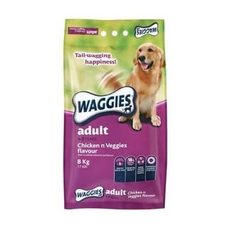 Waggies Dog Food Adult Chicken n Veggies  Flavour 8kg