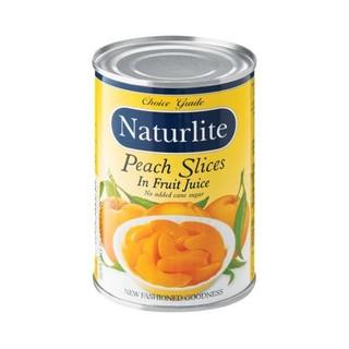 Naturlite Peach Slices In Fr uit Juice 410g