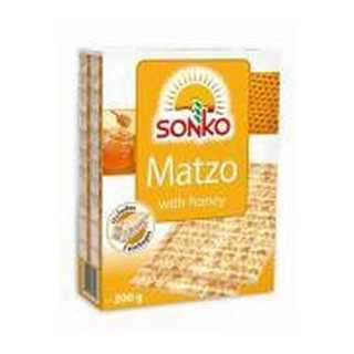 Sonko Matzah with Honey 200 GR