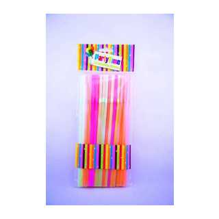 Party Time Neon Straws 50s