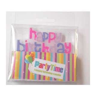 Partytime Happy Birthday Candle