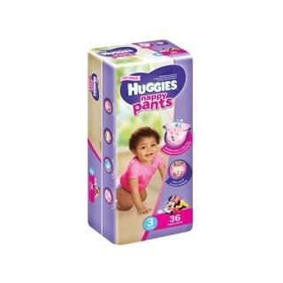 Huggies Nappy Pants Girl Size 3 36ea