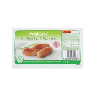 Weigh-less Herb Pork Bangers 375g